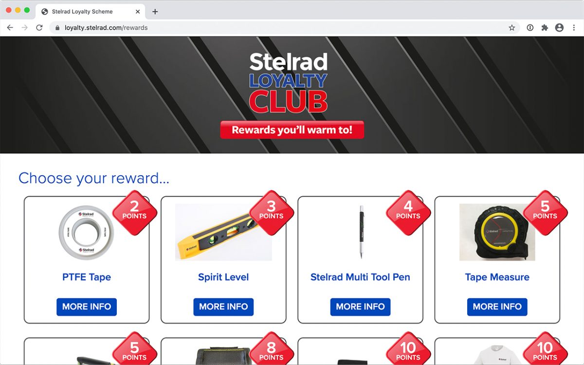 Custom built web application for loyalty club membership system